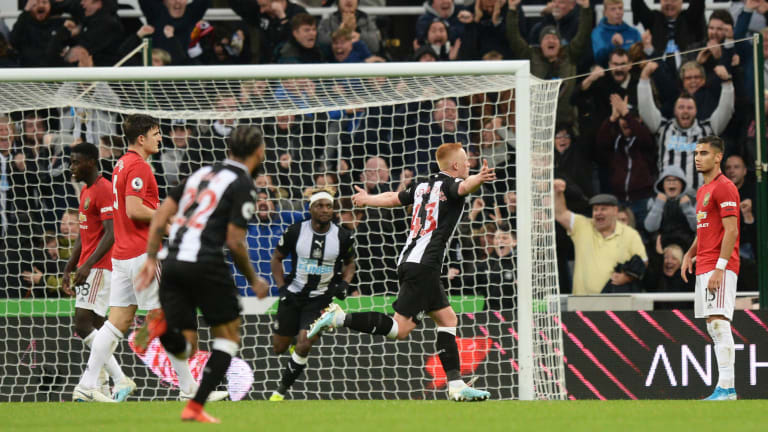 Man United Drops to 12th After Loss at Newcastle