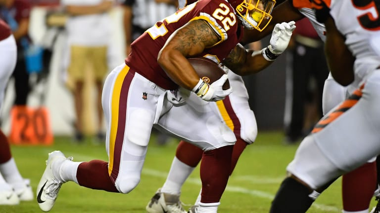 Craig Reynolds promoted with Redskins RB Chris Thompson ruled out