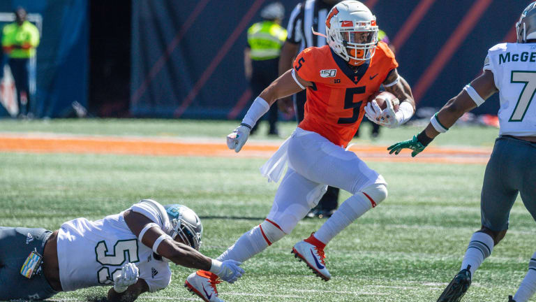 Illini WR Trevon Sidney Has Season-Ending Surgery