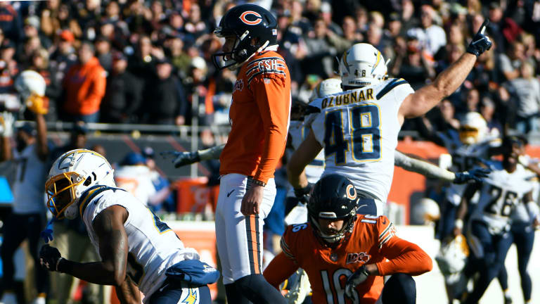 Chargers, Lucky or Not, End 3-Game Skid on Bears' Missed Field Goal