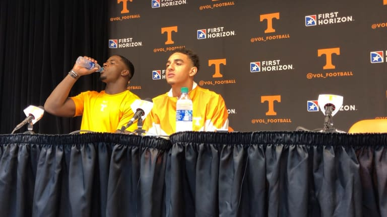 VIDEO: Tennessee players address the media following win over South Carolina