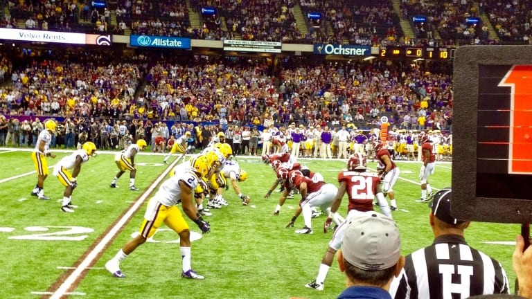 LSU at Alabama Poised to be No. 1 vs. No. 2 Matchup with a Twist: Tigers New No. 1 in AP Top 25