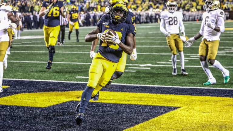 Freshman Wide Receiver Mike Sainristil Finally Shows What He Can Do