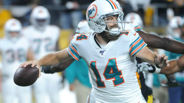 Ryan Fitzpatrick Will Start For Miami Against the New York Jets