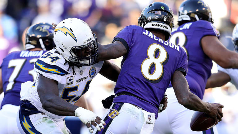 Joe Flacco Stays on the Bench as Ravens Come up Short Against Chargers in Wild-Card Round