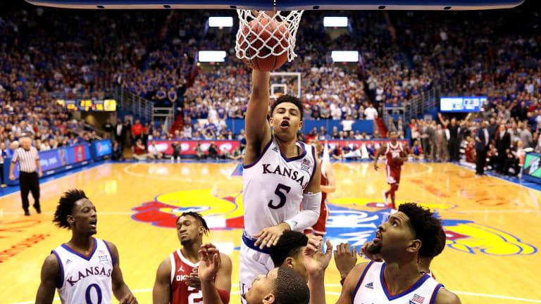 No. 5 Kansas Holds Off No. 23 Oklahoma 70-63