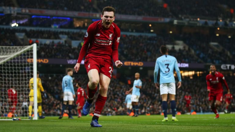 Andy Robertson Questions Manchester City Victory Celebrations After Etihad Defeat