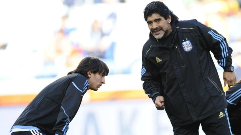 """Diego Maradona habló desde la clínica: """"Me gusta más este Messi en modo Maradona"""""""