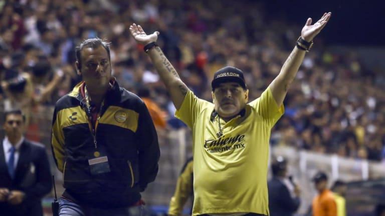"""""""Estuvo bien chilo""""   Maradona ya habla como mexicano"""