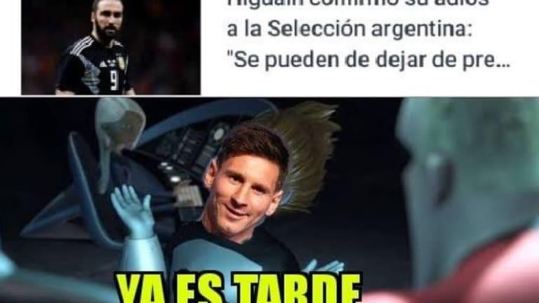 Los mejores memes tras la renuncia de Higuaín a la selección argentina