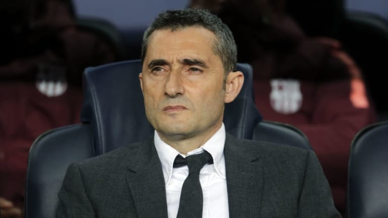 Ernesto Valverde Claims Barcelona 'Had Problems' During Their Champions League Victory Over Lyon