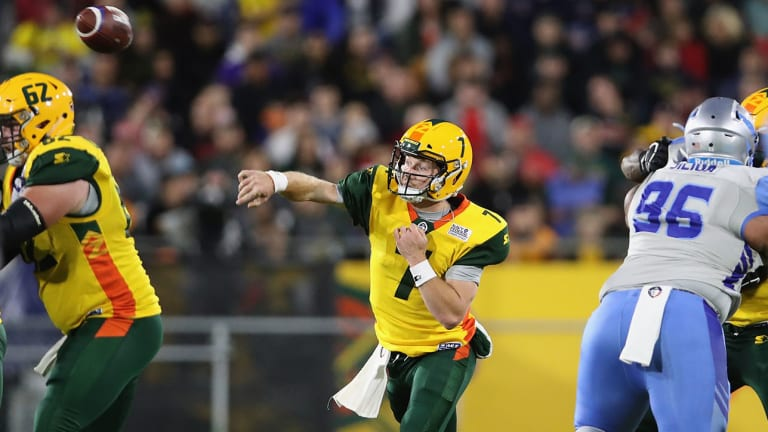 Quarterback John Wolford Stars in AAF Debut for Arizona Hotshots
