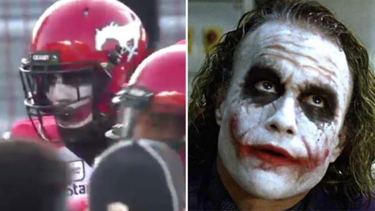 CFL Cornerback Plays While Wearing Full Joker Facepaint