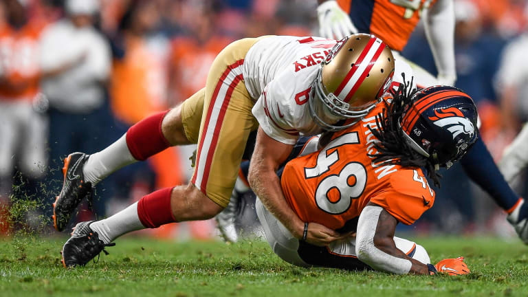 49ers Punter Mitch Wishnowsky Proves His 'Madden' Tackle Rating Is Way Too Low