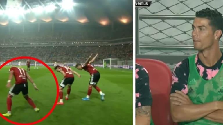 La reacción de Cristiano Ronaldo cuando un rival le marca gol a la Juventus y celebra como él