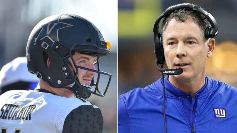 Pat Shurmur Scouted One QB at the Combine He Knows Quite Well: Vanderbilt's Kyle Shurmur