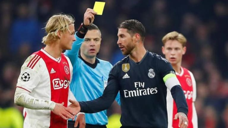 La UEFA expedienta a Sergio Ramos por forzar la amarilla ante el Ajax y podrían caerle 2 partidos