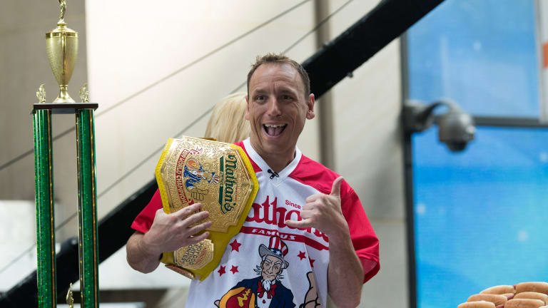 Joey Chestnut Gobbled Up 413 Hooters Wings in 12 Hours Because Why Not