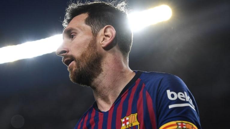 El detalle de 'fair play' de Messi con el árbitro en el partido contra el Rayo Vallecano