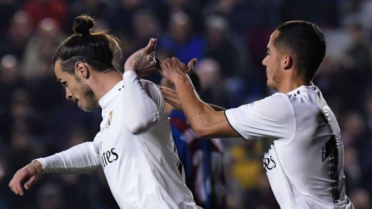 El feo gesto de Bale con sus compañeros tras marcar el gol de la victoria ante el Levante