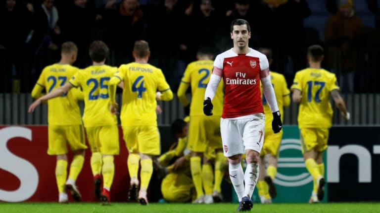 BATE Borisov 1-0 Arsenal: Report, Ratings & Reaction as 10-Man Gunners Embarrassed in Belarus