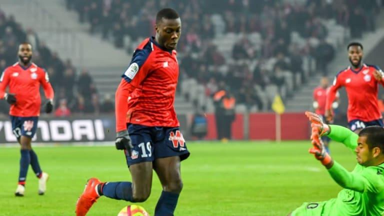 El Lille pone precio a Nicolás Pépé, jugador al que está siguiendo el FC Barcelona