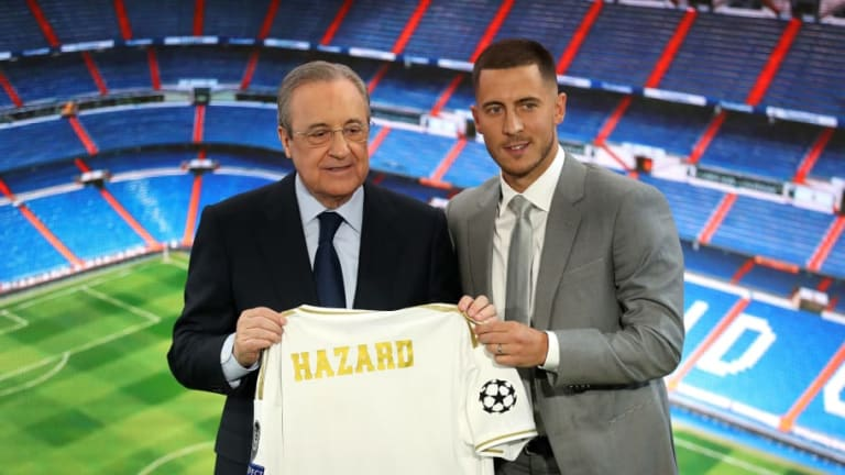 Eden Hazard Unveiled at Bernabeu After Sealing Real Madrid Switch From Chelsea