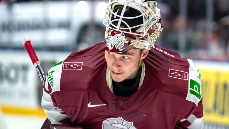 Blue Jackets Sign Goalie Elvis Merzlikins to One-Year Contract
