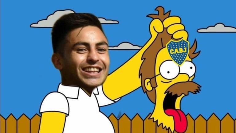 Las cargadas de River a Boca con un nuevo video en una escena de los Simpson