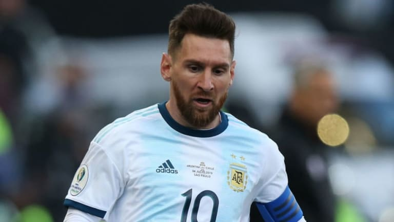Lionel Messi Protected by Security Following Clash With Partygoer in Ibiza