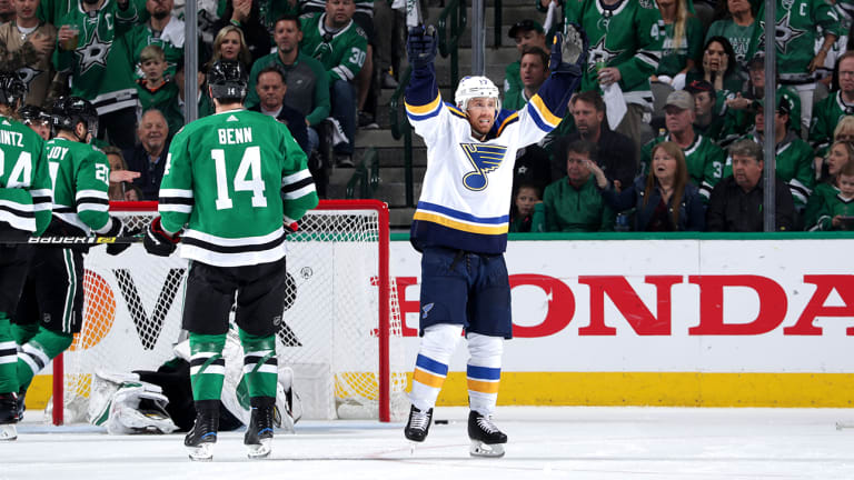Blues Pull Out Another Big Road Win to Force Game 7 Against Stars
