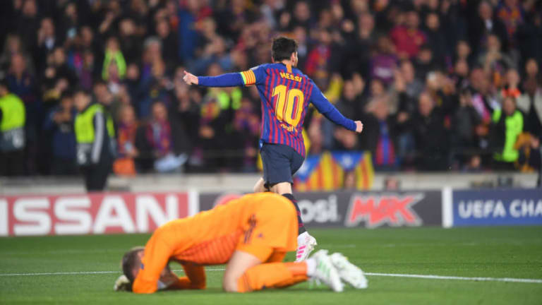 Lionel Messi Admits He Was Lucky to Score Both Goals Against Manchester United