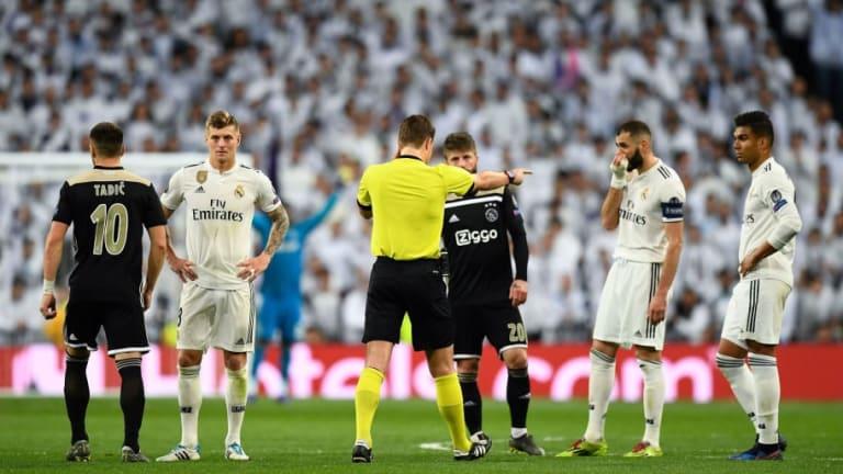 La UEFA explicó por qué no se anuló el tercer gol del Ajax en el Bernabéu