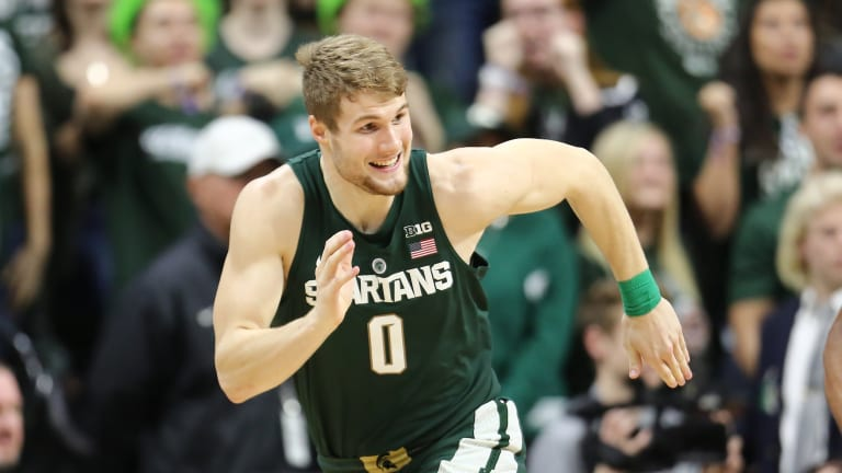 Watch: Michigan State's Kyle Ahrens Stretchered Off in Emotional Scene After Suffering Gruesome Injury