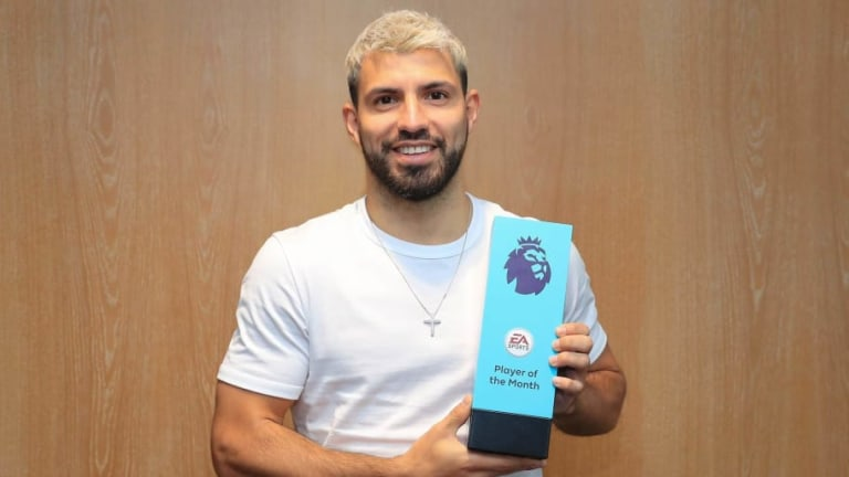 Man City Striker Sergio Aguero Named February Premier League Player of the Month