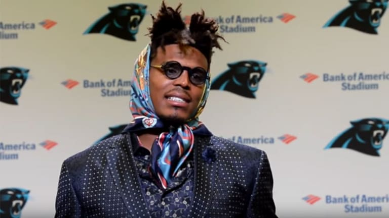 Traina Thoughts: Cam Newton's Scarf Look Had Twitter Abuzz