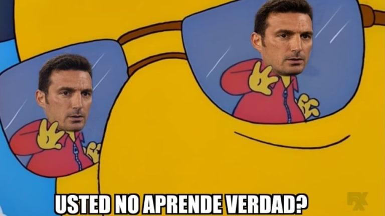 Messi y Scaloni fueron los apuntados en los memes de la victoria de Argentina ante Venezuela