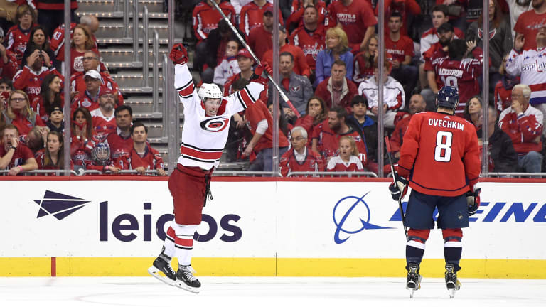 Hurricanes Stun Defending Champ Capitals in Double OT as Fitting End to Wild First Round