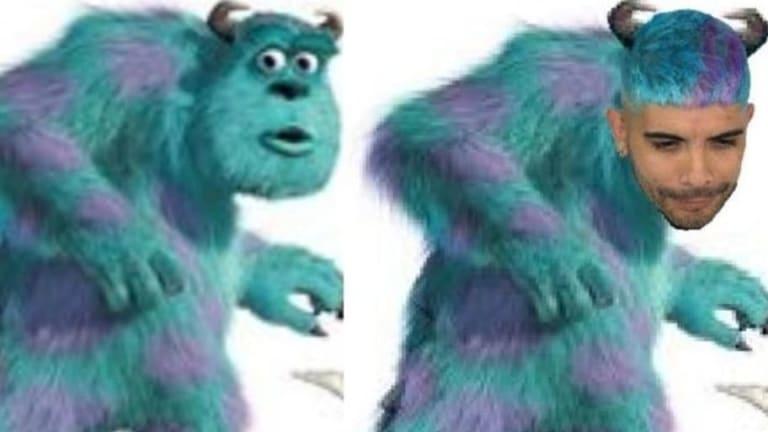 Las redes se burlaron del nuevo look de Ever Banega y lo compararon con un personaje de 'Monsters'