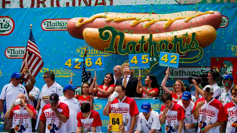 Nathan's Hot Dog Eating Contest Odds: Men's Winner Over/Under Set at 73.5