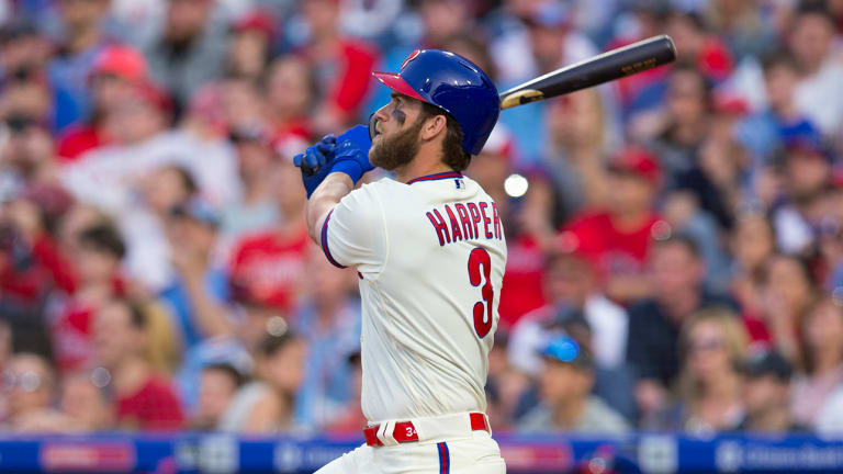 Watch: Bryce Harper Demolishes Monster First Home Run With Phillies