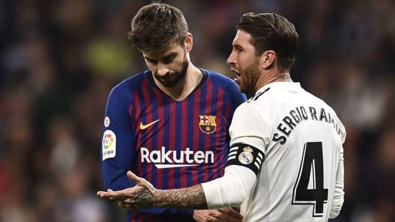 Piqué desconfía del argumento de Ramos sobre el golpe a Leo Messi
