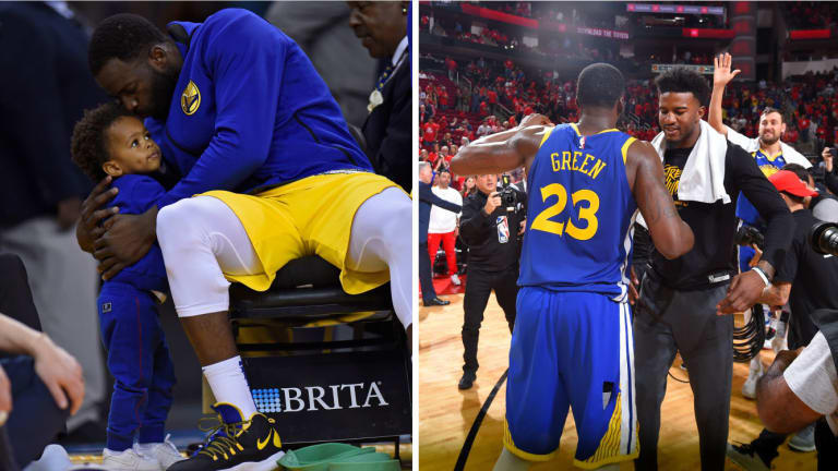 Draymond Green Provides Wise Words to Flopping Son Like He Did for Jordan Bell After Missed Dunk