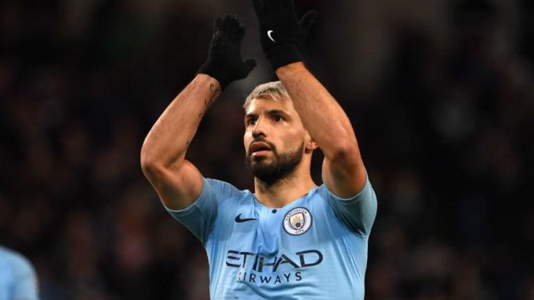Doblete de Agüero y otro de Sané para darle una cómoda ventaja al Manchester City