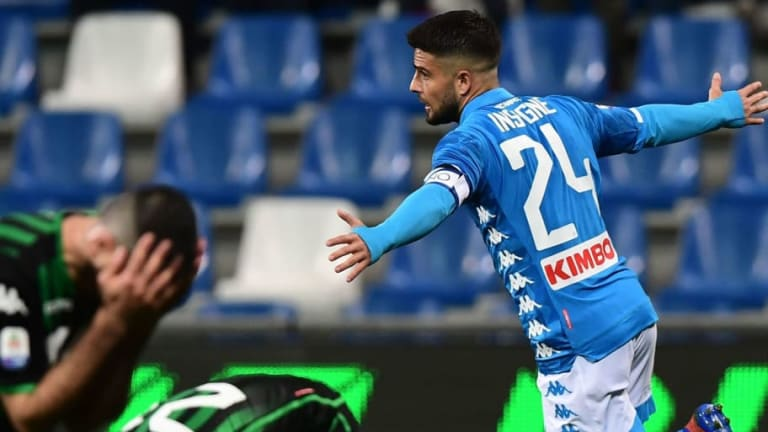 Sassuolo 1-1 Napoli: Report, Ratings & Reaction as Late Insigne Strike Saves Partenopei