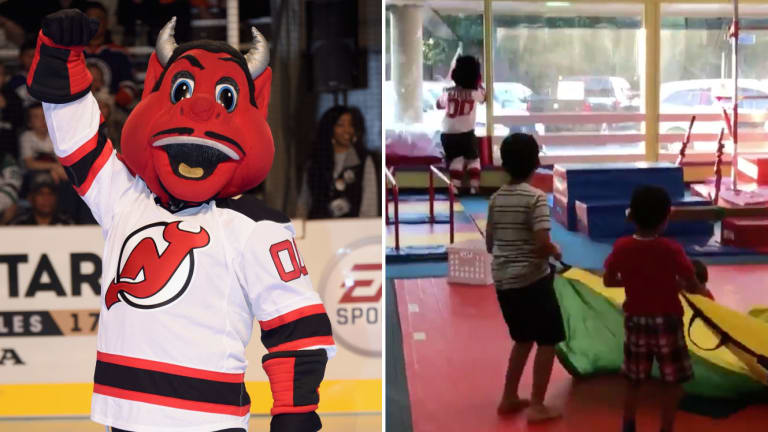 Monday's Hot Clicks: Devils Mascot Destroys Window at Kid's Birthday Party
