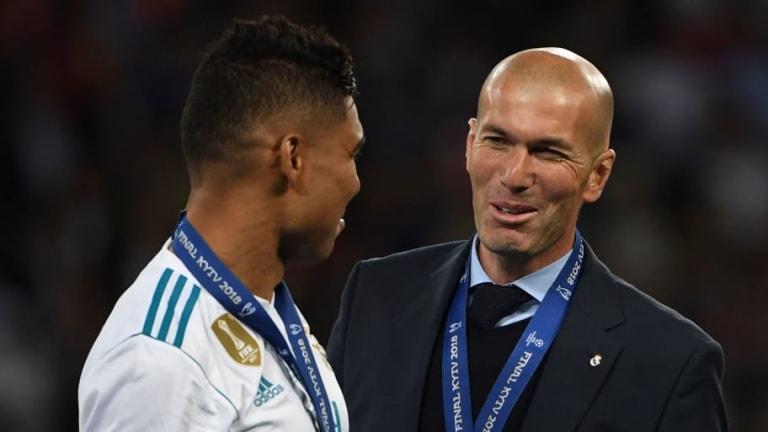 """Casemiro: """"Zidane no se fue nunca del Real Madrid"""""""