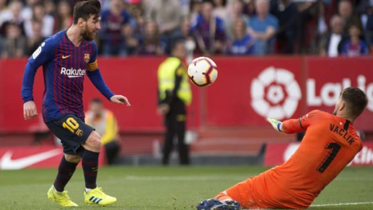 El 1x1 del Barça en la exhibición de Messi frente al Sevilla