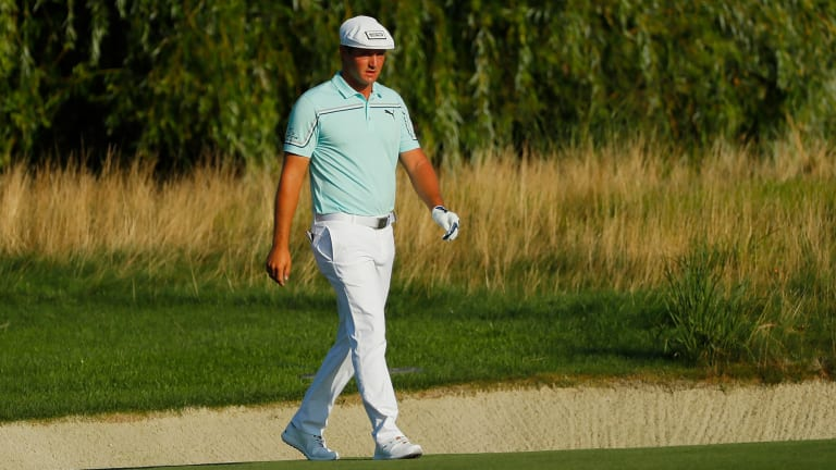 Watch: Bryson DeChambeau Takes Over Two Minutes to Hit 70-Yard Shot