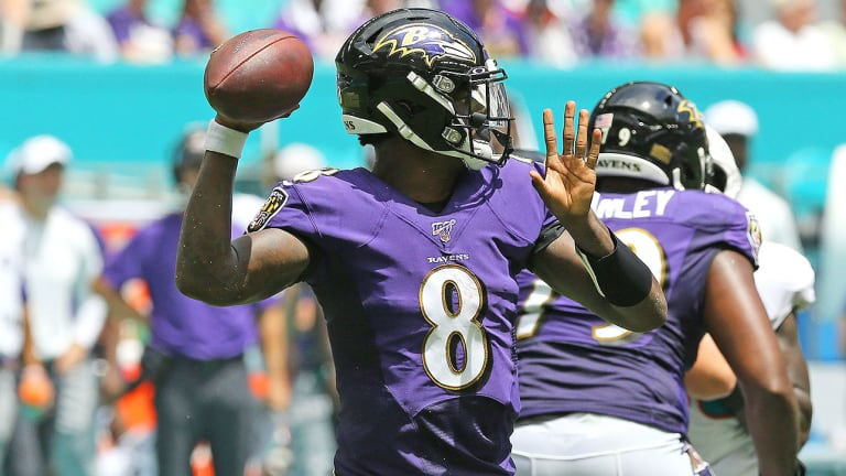 Ravens' Offense Explodes Out of the Gate Against Dolphins